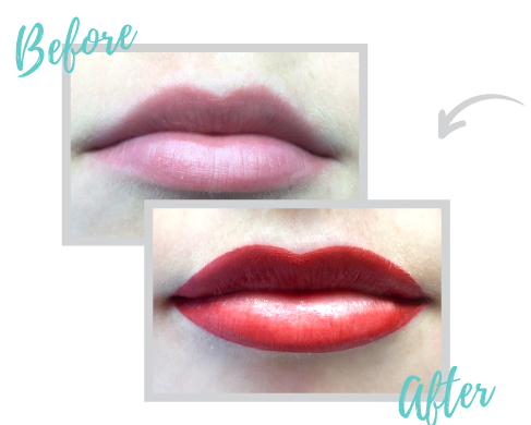 permanent lips before and after