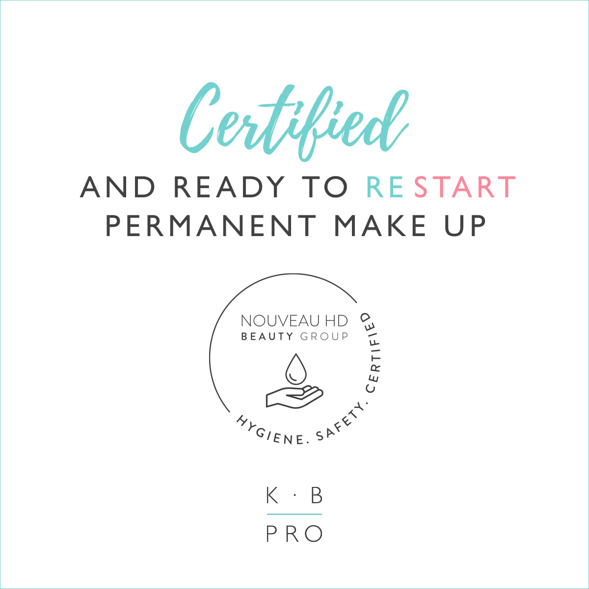 Certified and read to restart permanent make-up stamp KB Pro