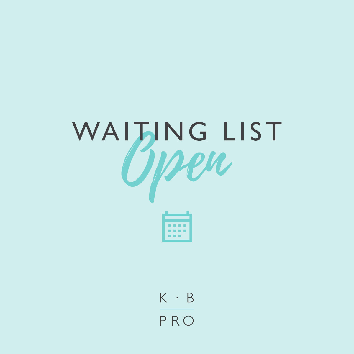 Waiting List Now Open KB Pro Artists